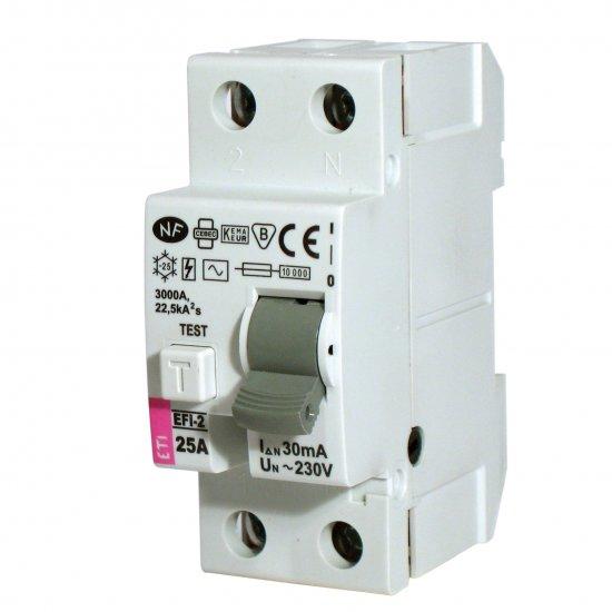 Дефектнотокова защита 2 AC EFI-2AC 25 /0.03A