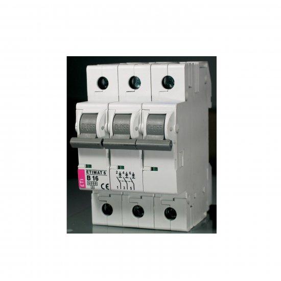 Миниатюрен автоматичен прекъсвач ETIMAT 6 C 3p 6kA 63A