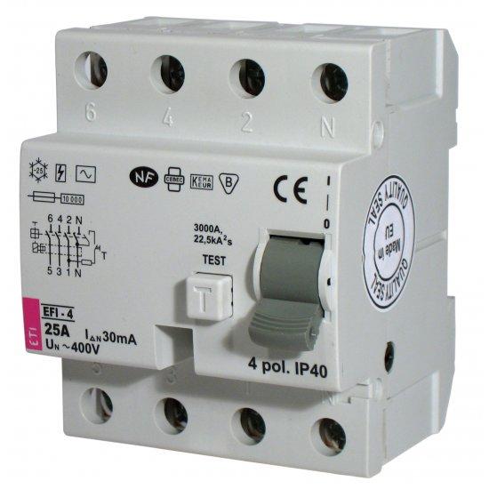 Дефектнотокова защита -4 AC EFI-4AC 63 /0.03A