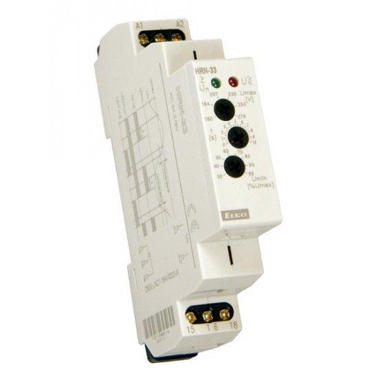 Реле за контрол на повишено и понижено напрежение HRN-33, монофазно