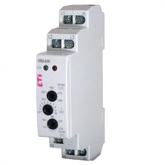 Реле за контрол на повишено и понижено напрежение и нула HRN-54N, трифазно