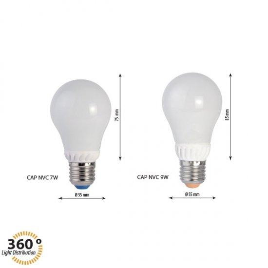 LED лампа A60G 3W E27 3000K