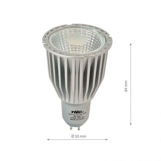 Led Лампа 7W MR16 220V 4500K Димируема