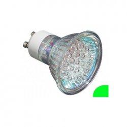 LED крушка GU10 зелен