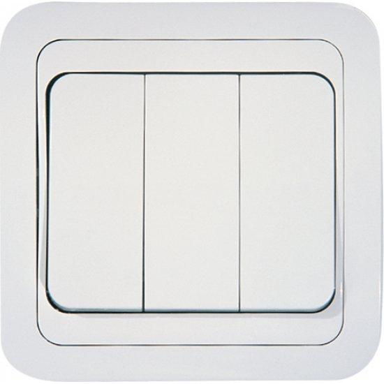 Ключ троен 1 вход 3 изхода бял