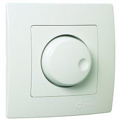 Ключ регулатор (димер) 600W бял