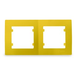 Двойна хоризонтална рамка жълта