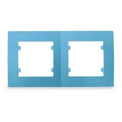 Двойна хоризонтална рамка синя