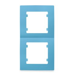 Двойна вертикална рамка синя