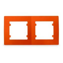 Двойна хоризонтална рамка оранжева