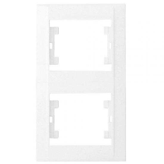 Двойна вертикална рамка бяла