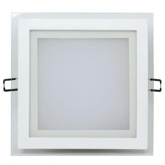 LED Луна 15W 220V квадрат 3000K бяла стъклена 1150Lm