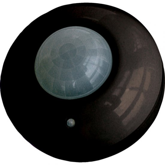 Сензор за движение 360° черен IP20