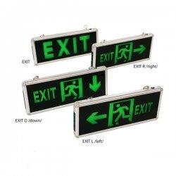 LED Аварийно тяло EXIT 3W IP44 едностранно