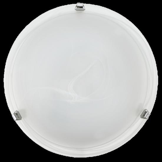 Плафон SALOME E27 max 60W IP20 бял + хром