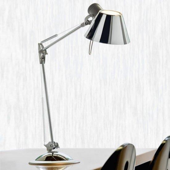 Настолна/работна лампа OFFICE 1x60W мат хром