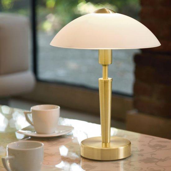 Настолна лампа SOLO 1 E14 max 40W IP20 с тъч димер мат хром