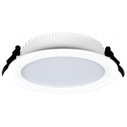 LED SMD луна влагозащитена 12W 6000K ф106x35мм 1100Lm IP44