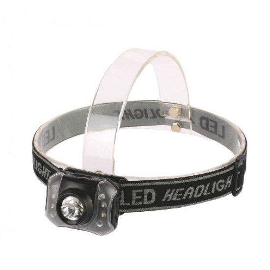 LED лампа за глава 3LED бeли + 4LED без батерии 3xААА
