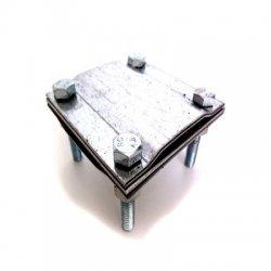 Клема с канал за свръзка на шина с шина 40*4
