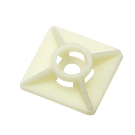 Elematic Основа за кабелна превръзка бели 27/27 - 100 бр