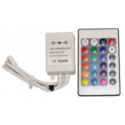 Инфрачервен контролер с дистанционно управление za RGB 24 бутона 72W