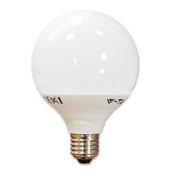 LED Крушка 10W E27 G95 Глобус Топло Бяла Светлина