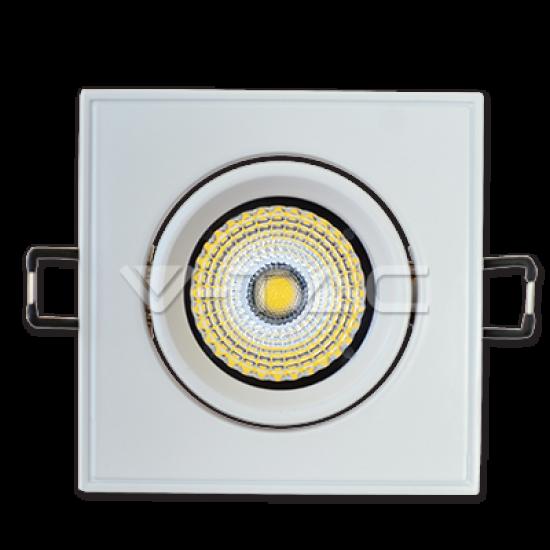 5W LED Луна COB Квадратен Модул Ротационна - Бяло Тяло Бяла Светлина