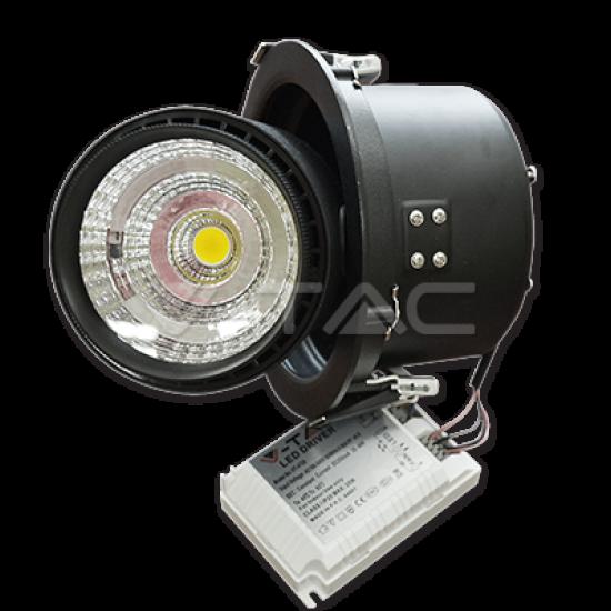 25W LED Луна COB Променлив Ъгъл Черно Тяло 5000К