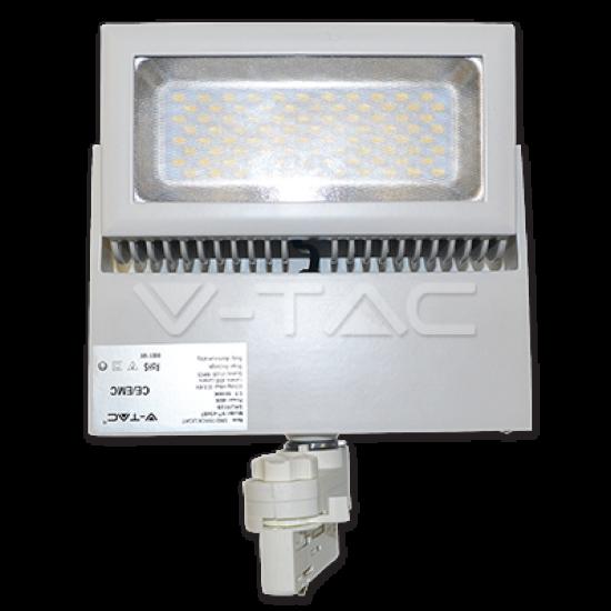 LED Прожектор Релсов Монтаж 48W 5000K Бял Корпус