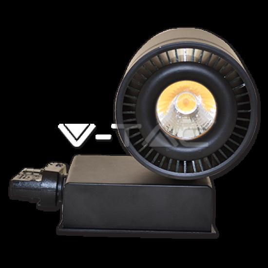 LED Прожектор Релсов Монтаж 33W COB CRI>95 Черно Тяло 4000K
