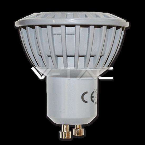 LED Крушка 5W GU10 Пластик Студено Бяла Светлина
