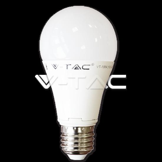 LED Крушка 12W E27 A60 Термо Пластик Студено Бяла Светлина Димируема