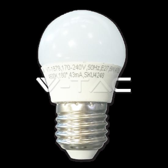 LED Крушка 6W E27 G45 Топло Бяла Светлина