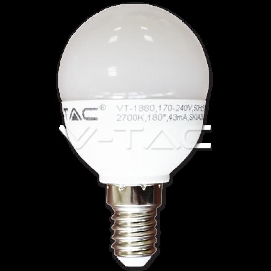 LED Крушка 6W E14 P45 Студено Бяла Светлина