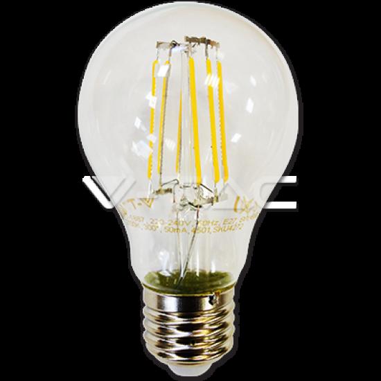 LED Крушка 6W Filament E27 A60 Топло Бяла Светлина