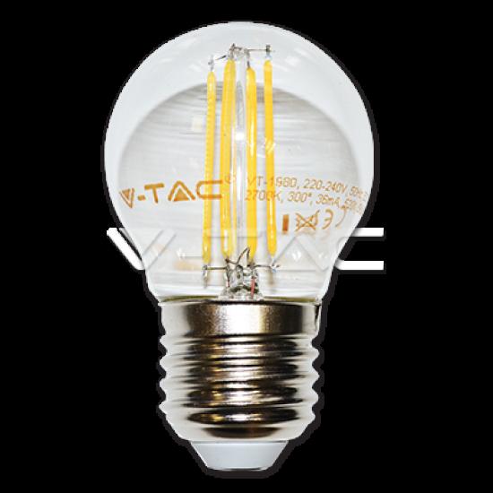 LED Крушка 4W Filament E27 G45 Студено Бяла Светлина
