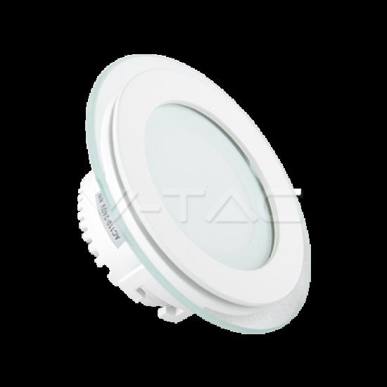 LED Панел Кръг Стъклено Тяло Бяла Светлина 6W 4000K