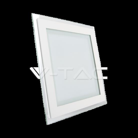 LED Панел Квадрат Стъклено Тяло 12W 2700K 160x160мм