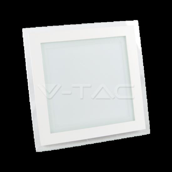 LED Панел Квадрат Стъклено Тяло 18W 3000К/4500К/6000К 200х200мм
