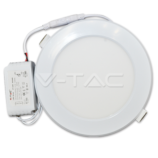 LED Пластик Панел Кръг 24W 4500K Ф300мм