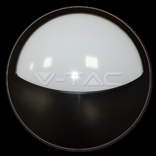 LED Полукръгло Тяло Външен Монтаж Черно Тяло 12W IP66 4500K