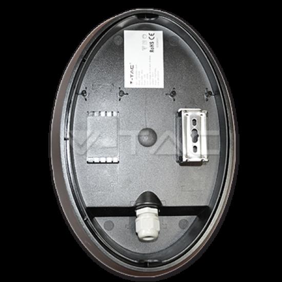 LED Полуовално Тяло Външен Монтаж Черно Тяло 12W IP66 4500K