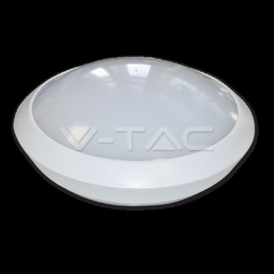 LED Кръгло Тяло Външен Монтаж Със Сензор 12W Бяло Тяло IP66 6000K