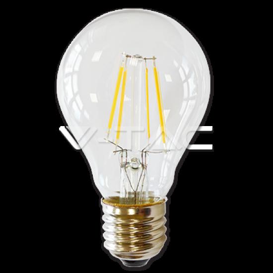 LED Крушка 4W Filament E27 A60 Топло Бяла Светлина
