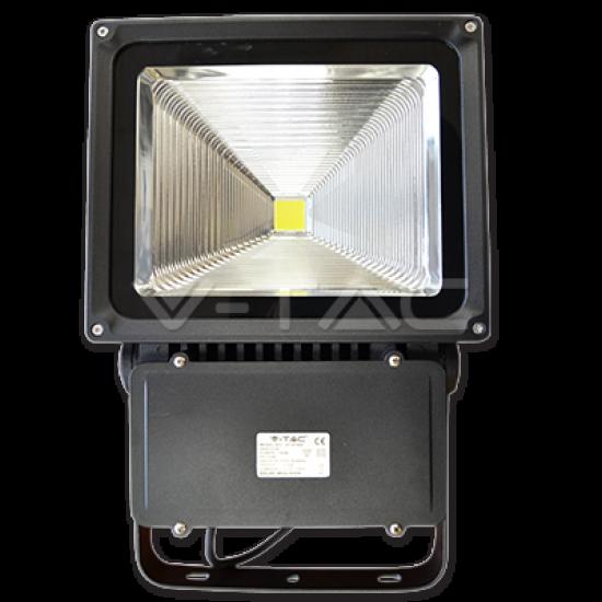 70W LED Прожектор V-TAC Класик PREMIUM Рефлектор Графит Топло Бяла Светлина