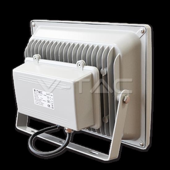 70W LED Прожектор V-TAC Класик PREMIUM SMD - Сиво Тяло Топло Бяла Светлина