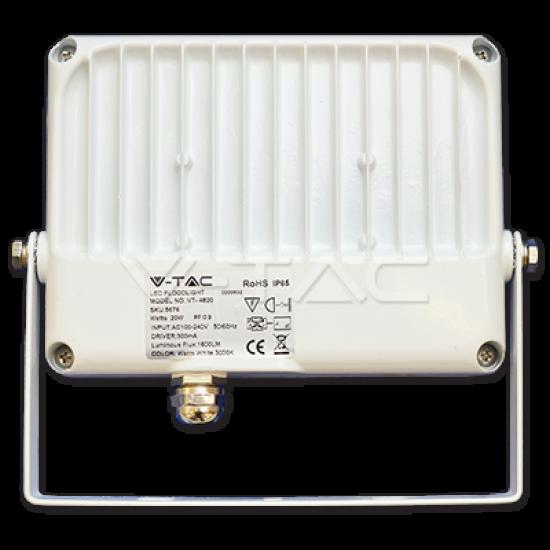 20W LED Прожектор SMD Бяло Тяло 6000K