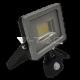 30W LED Прожектор Сензор SMD Черно/Сиво Тяло 3000K