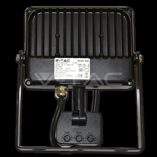 50W LED Прожектор Сензор SMD Черно/Сиво Тяло 4500K